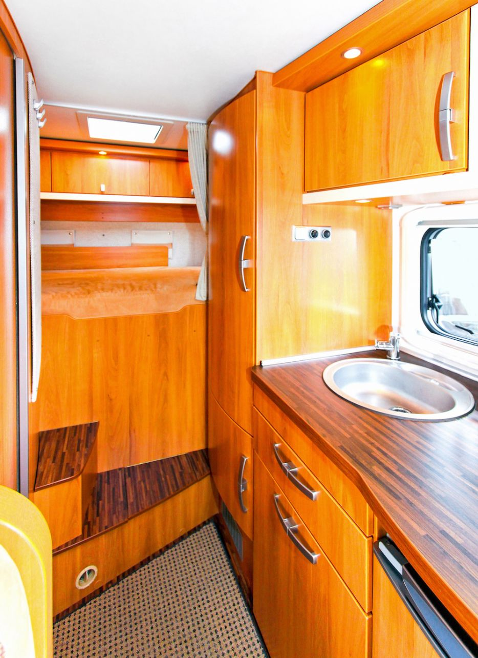 Laminated interior of a mobile home